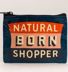Blue Q Coin Purse- Natural Born Shopper