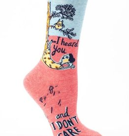 Blue Q Women's Socks- I Heard You Don't Care