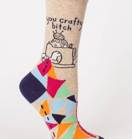 Blue Q Women's Socks- You Crafty Bitch