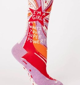 Blue Q Women's Socks- Superpower