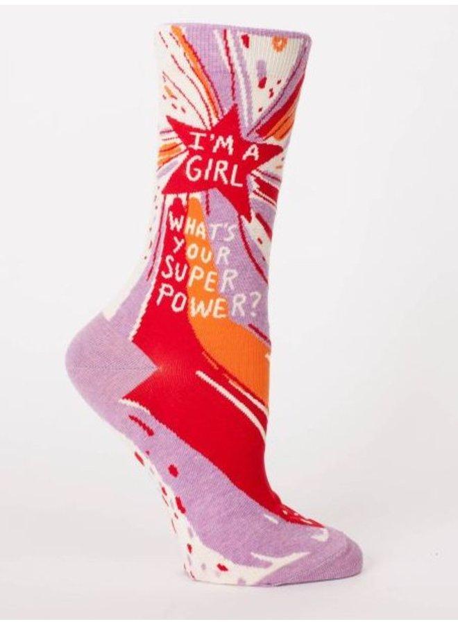 Women's Socks- Superpower