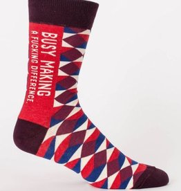 Blue Q Men's Socks- Making a Difference