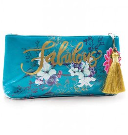 Papaya Jewel Flower Small Tassel Pouch