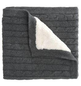 Elegant Baby Furback Cable Boxed Blanket-Gray