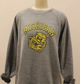 Retro Brand Michigan Grey Sweatshirt