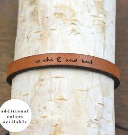 "Laurel Denise Brown ""To The Moon"" Leather Bracelet"