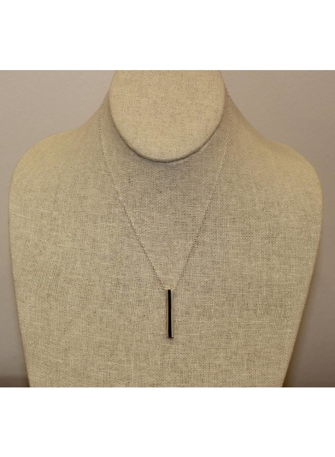 "Silver Initial ""C"" Hidden Message Necklace"