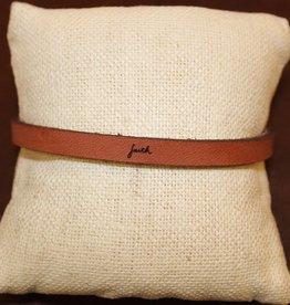 "Laurel Denise Brown ""Faith"" Leather Bracelet"