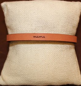 """Laurel Denise Brown """" Mama"""" Leather Bracelet"""