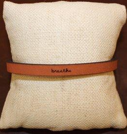 """Laurel Denise Brown """"Breathe"""" Leather Bracelet"""