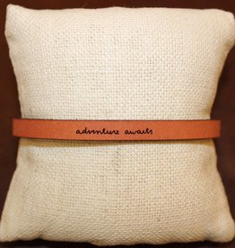 "Laurel Denise Brown ""Adventure Awaits"" Leather Bracelet"