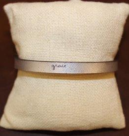 "Laurel Denise Silver ""Grace"" Leather Bracelet"