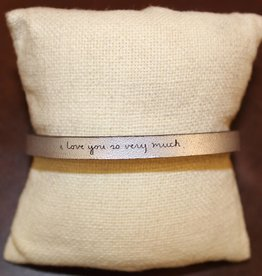 """Laurel Denise Silver """"I Love You So Very Much"""" Leather Bracelet"""