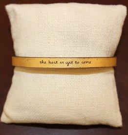 "Laurel Denise Gold ""The Best Is Yet"" Leather Bracelet"