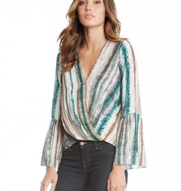 Fifteen Twenty Wrap Front Bell Sleeve Top