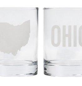 Say What Ohio Rocks Glass Set