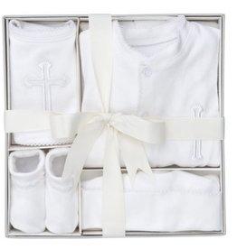 Elegant Baby 4 Piece Boxed Christening Set