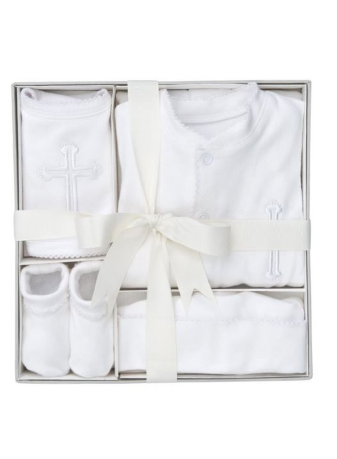 4 Piece Boxed Christening Set