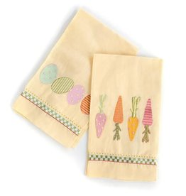 MacKenzie-Childs Springtime Guest Towels-Set Of 2