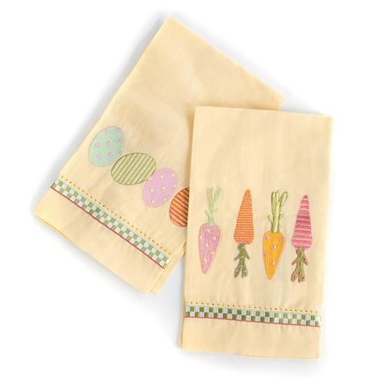 MacKenzie-Childs Springtime Guest Towels-Set Of 2
