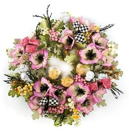 MacKenzie-Childs Pink Poppy Wreath