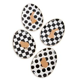MacKenzie-Childs Easter Egg Plates- Set of 4