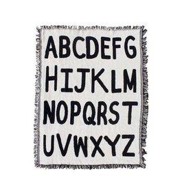 Calhoun & Co. Alphabet Mini Throw Blanket