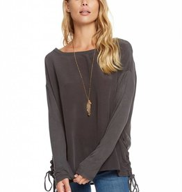 Chaser Silk Long Sleeve Lace Up Dolman