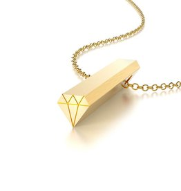 Beth Macri Gold Diamond Hidden Message Necklace