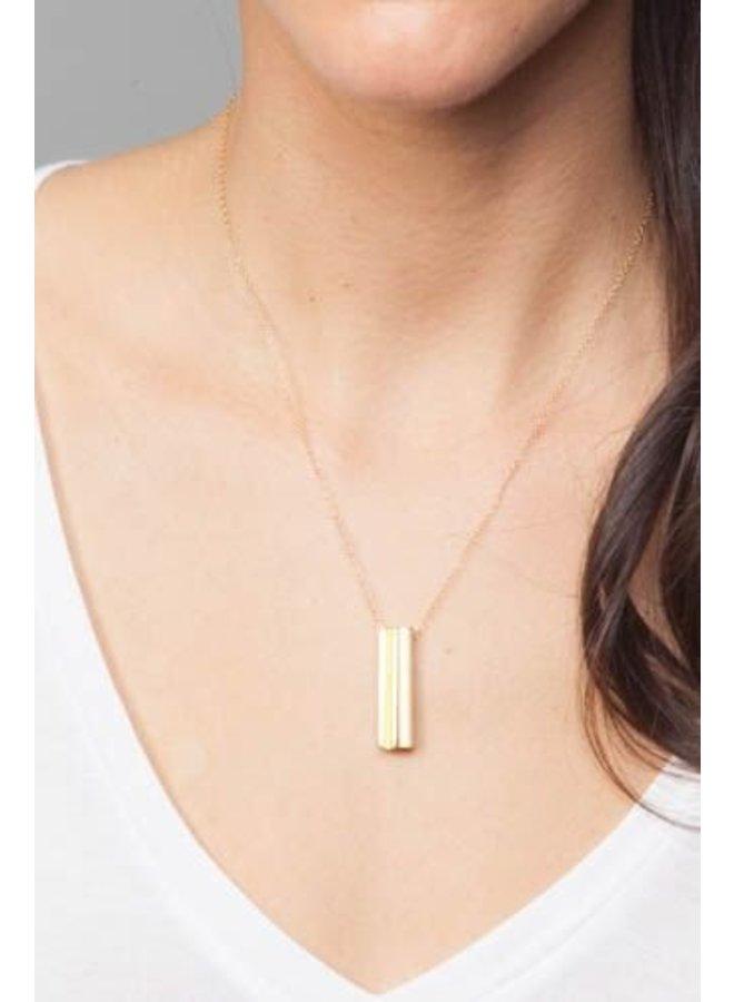 Gold XO Hidden Message Necklace