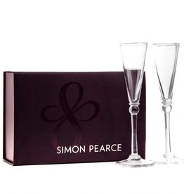 Simon Pearce Hartland Flute Set with Gift Box