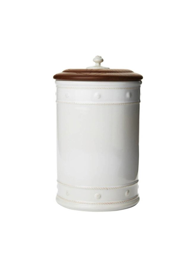 Berry & Thread Whitewash Container-Large