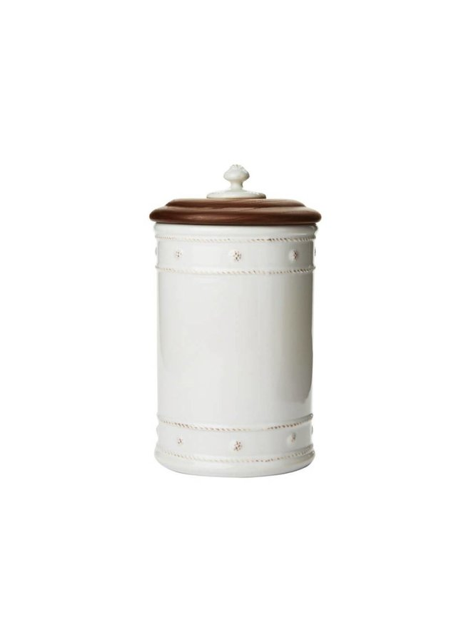 Berry & Thread Whitewash Canister-Small