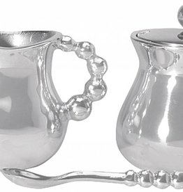 Mariposa Pearled Cream & Sugar Set