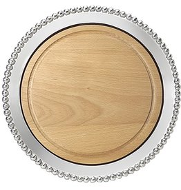 Mariposa Pearled Round Cheese Board