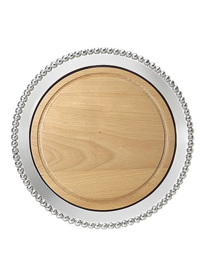 Pearled Round Cheese Board