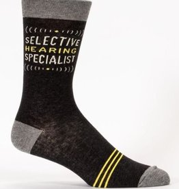 Blue Q Men's Socks- Selective Hearing