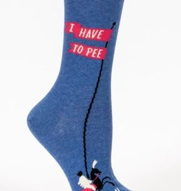 Blue Q Women's Socks- I Have To Pee...Again