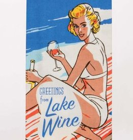 Blue Q Lake Wine Dish Towel