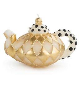 MacKenzie-Childs Diamond Teapot Candle - Gold