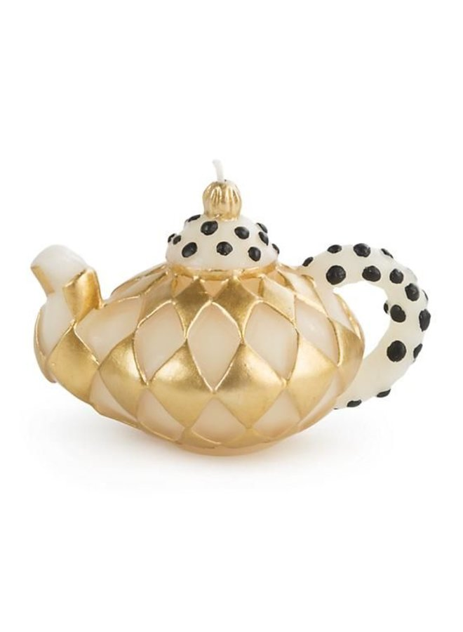 Diamond Teapot Candle - Gold