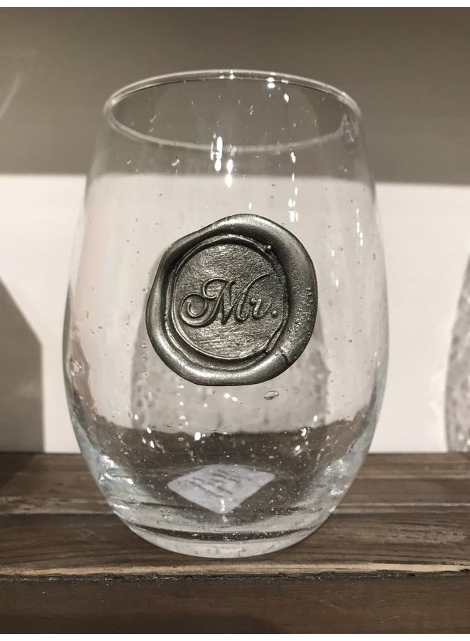 Stemless Wine Glass - Mr.