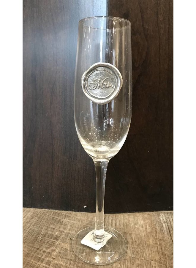 Champagne Flute- Mrs.