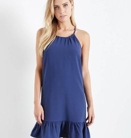 Fifteen Twenty Halter Ruffle Hem Dress