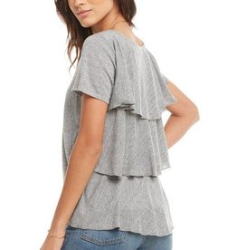 Chaser Flirty Ruffle Layered Tee