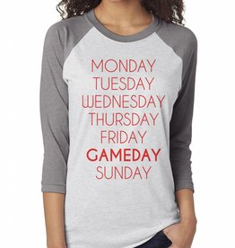 OCJ Apparel Weekdays Raglan Baseball Tee