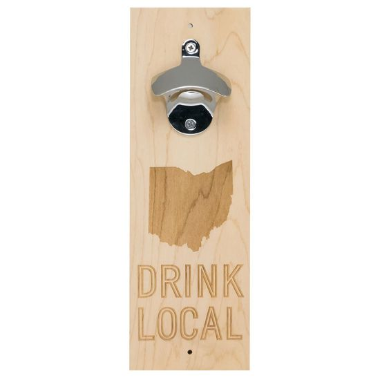 Say What Ohio Wood Bottle Opener