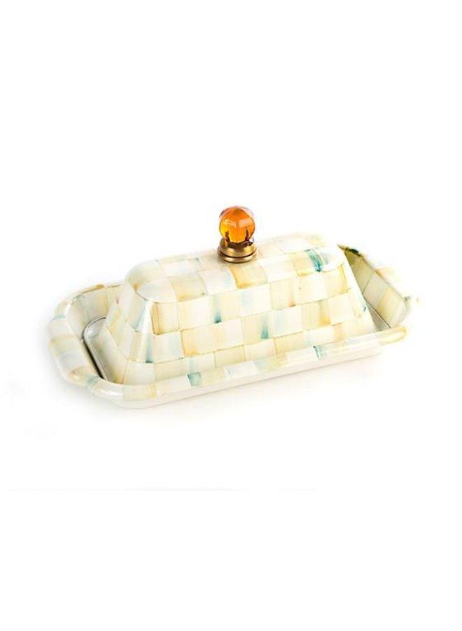 Parchment Check Butter Box