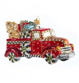 MacKenzie-Childs Glass Ornament - Farm Truck