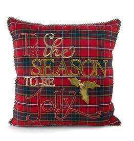 MacKenzie-Childs Tartan 'Tis the Season Pillow